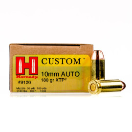 Image For 20 Rounds Of 180 Grain XTP Boxer Brass 10mm Hornady Ammunition