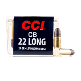 Image For 100 Rounds Of 29 Grain LRN Rimfire Brass 22 Long CCI Ammunition
