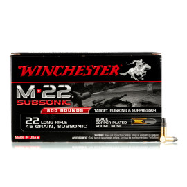 Image For 800 Rounds Of 45 Grain Copper Plated Round Nose Boxer Brass 22 LR Winchester Ammunition