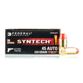 Image For 500 Rounds Of 220 Grain TSJ Boxer Brass 45 Auto Federal Ammunition