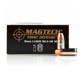 Image For 20 Rounds Of 92.6 Grain JHP Boxer Nickel-Plated Brass 9mm Magtech Ammunition