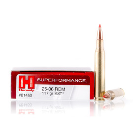 Image For 20 Rounds Of 117 Grain SST Boxer Brass 25-06 Hornady Ammunition