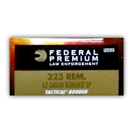 Image For 20 Rounds Of 62 Grain SP Boxer Brass 223 Rem Federal Ammunition