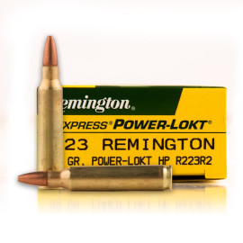 Image For 20 Rounds Of 55 Grain Power-Lokt Hollow Point (PLHP) Boxer Brass 223 Rem Remington Ammunition