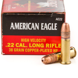 Image For 400 Rounds Of 38 Grain CPHP Rimfire Brass 22 LR Federal Ammunition