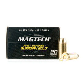 Image For 20 Rounds Of 155 Grain JHP Boxer Brass 40 Cal Magtech Ammunition