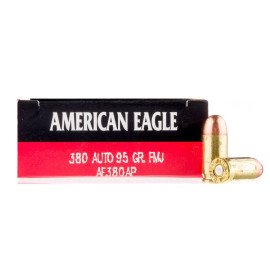 Image For 50 Rounds Of 95 Grain FMJ Boxer Brass 380 ACP Federal Ammunition