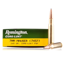 Image For 20 Rounds Of 140 Grain PSP Boxer Brass 7x57mm Remington Ammunition
