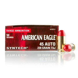 Image For 50 Rounds Of 230 Grain TSJ Boxer Brass 45 Auto Federal Ammunition