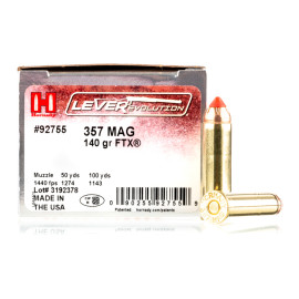 Image For 25 Rounds Of 140 Grain JHP Boxer Nickel-Plated Brass 357 Magnum Hornady Ammunition
