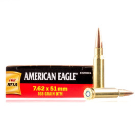 Image For 20 Rounds Of 168 Grain OTM Boxer Brass 308 Win Federal Ammunition