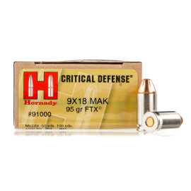 Image For 25 Rounds Of 95 Grain JHP Boxer Nickel-Plated Brass 9mm Makarov Hornady Ammunition