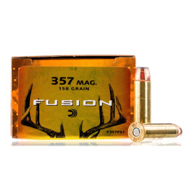 Image For 20 Rounds Of 158 Grain Fusion Boxer Brass 357 Magnum Federal Ammunition