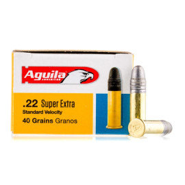 Image For 500 Rounds Of 40 Grain LRN Rimfire Brass 22 LR Aguila Ammunition