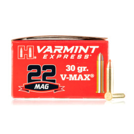 Image For 2000 Rounds Of 30 Grain V-MAX Rimfire Brass 22 WMR Hornady Ammunition