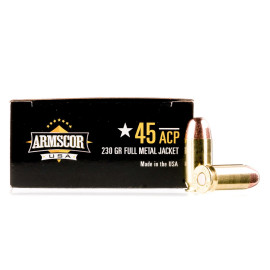 Image For 1000 Rounds Of 230 Grain FMJ Boxer Brass 45 Auto Armscor Ammunition