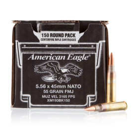 Image For 150 Rounds Of 55 Grain FMJ Boxer Brass 5.56x45 Federal Ammunition