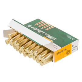 Image For 20 Rounds Of 180 Grain SP Boxer Brass 308 Win Sellier and Bellot Ammunition