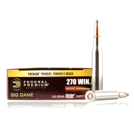 Image For 20 Rounds Of 130 Grain SP Boxer Brass 270 Win Federal Ammunition