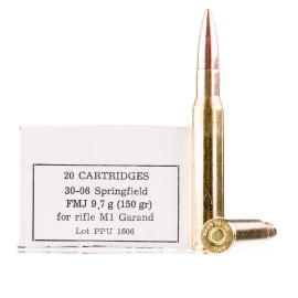 Image For 20 Rounds Of 150 Grain FMJ Boxer Brass 30-06 Prvi Partizan Ammunition