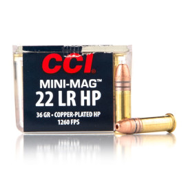 Image For 100 Rounds Of 36 Grain CPHP Rimfire Brass 22 LR CCI Ammunition