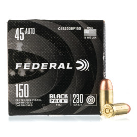 Image For 600 Rounds Of 230 Grain FMJ Boxer Brass 45 Auto Federal Ammunition