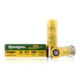 Image For 5 Rounds Of 1/2 oz. Rifled Slug 20 Gauge Remington Ammunition