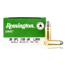 Image For 50 Rounds Of 158 Grain LRN Boxer Brass 38 Special Remington Ammunition
