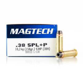 Image For 50 Rounds Of 158 Grain SJHP Boxer Brass 38 Special Magtech Ammunition