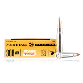 Image For 20 Rounds Of 165 Grain TSX Boxer Brass 308 Win Federal Ammunition