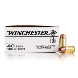 Image For 50 Rounds Of 180 Grain JHP Boxer Brass 40 Cal Winchester Ammunition
