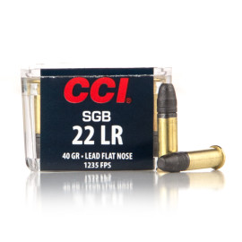 Image For 50 Rounds Of 40 Grain LFN Rimfire Brass 22 LR CCI Ammunition