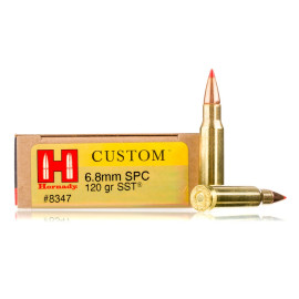 Image For 20 Rounds Of 120 Grain SST Boxer Brass 6.8 SPC Hornady Ammunition