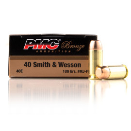 Image For 1000 Rounds Of 180 Grain FMJ Boxer Brass 40 Cal PMC Ammunition