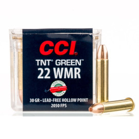 Image For 50 Rounds Of 30 Grain HP Rimfire Brass 22 WMR CCI Ammunition