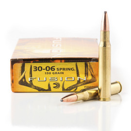 Image For 20 Rounds Of 150 Grain Fusion Boxer Brass 30-06 Federal Ammunition