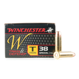 Image For 50 Rounds Of 130 Grain FMJ Boxer Brass 38 Special Winchester Ammunition