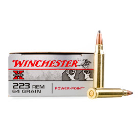Image For 20 Rounds Of 64 Grain PP Boxer Brass 223 Rem Winchester Ammunition
