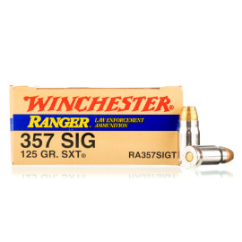 Image For 50 Rounds Of 125 Grain JHP Boxer Nickel-Plated Brass 357 Sig Winchester Ammunition