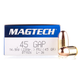 Image For 1000 Rounds Of 230 Grain FMJ Boxer Brass 45 GAP Magtech Ammunition
