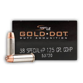 Image For 50 Rounds Of 125 Grain JHP Boxer Nickel-Plated Brass 38 Special Speer Ammunition