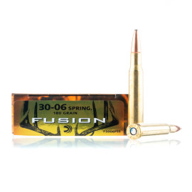 Image For 20 Rounds Of 180 Grain Fusion Boxer Brass 30-06 Federal Ammunition