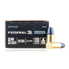 Image For 20 Rounds Of 138 Grain Segmented Hollow Point (SHP) Boxer Brass 9mm Federal Ammunition