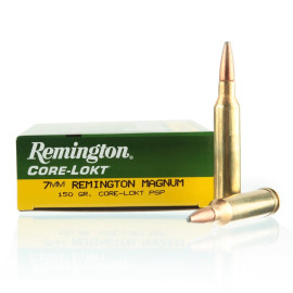 Image For 20 Rounds Of 150 Grain PSP Boxer Brass 7mm Rem Magnum Remington Ammunition