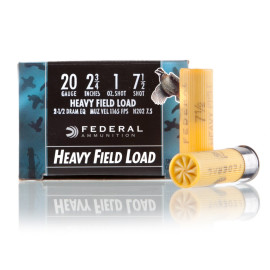 Image For 25 Rounds Of 1 oz. #7-1/2 Shot 20 Gauge Federal Ammunition