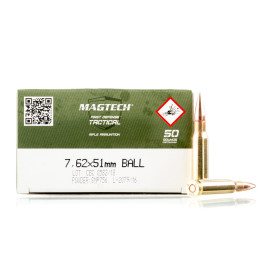 Image For 400 Rounds Of 147 Grain FMJ Boxer Brass 308 Win Magtech Ammunition