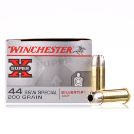 Image For 20 Rounds Of 200 Grain JHP Boxer Brass 44 S&W Special Winchester Ammunition