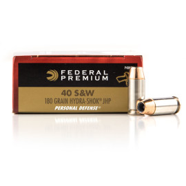 Image For 500 Rounds Of 180 Grain JHP Boxer Nickel-Plated Brass 40 Cal Federal Ammunition