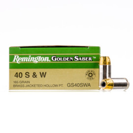 Image For 500 Rounds Of 165 Grain JHP Boxer Nickel-Plated Brass 40 Cal Remington Ammunition