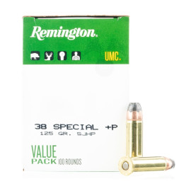 Image For 100 Rounds Of 125 Grain SJHP Boxer Brass 38 Special Remington Ammunition